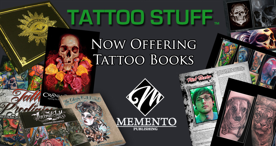 TattooStuff MEMENTO BOOKS banner