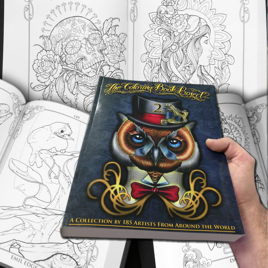 The coloring book tattoo - The Coloring Book Project 2__ The