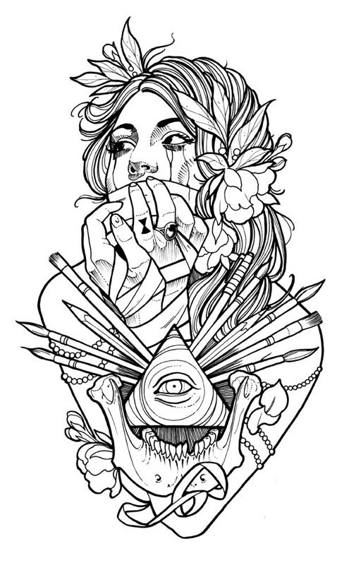 Free Tattoos On Arm Coloring Pages Coloring Pages Tattoos