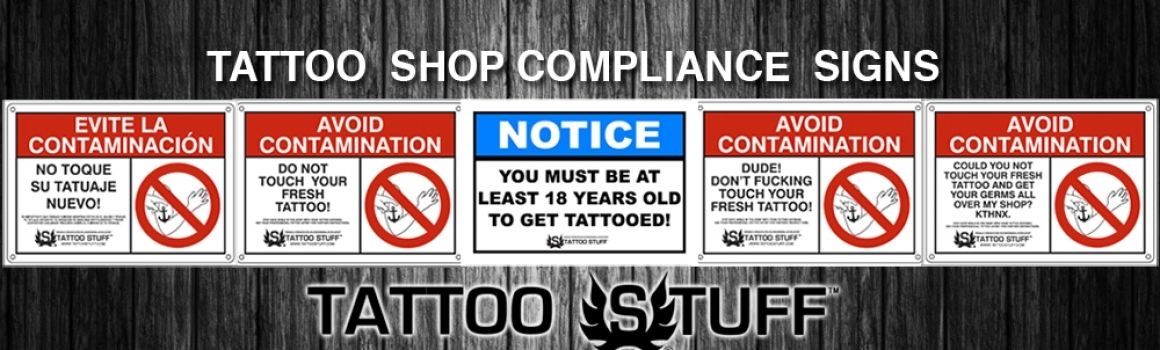 Tattoo Shop Compliance Signs!